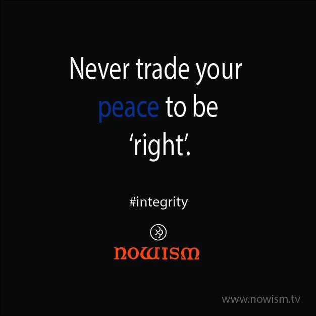 Never trade peace