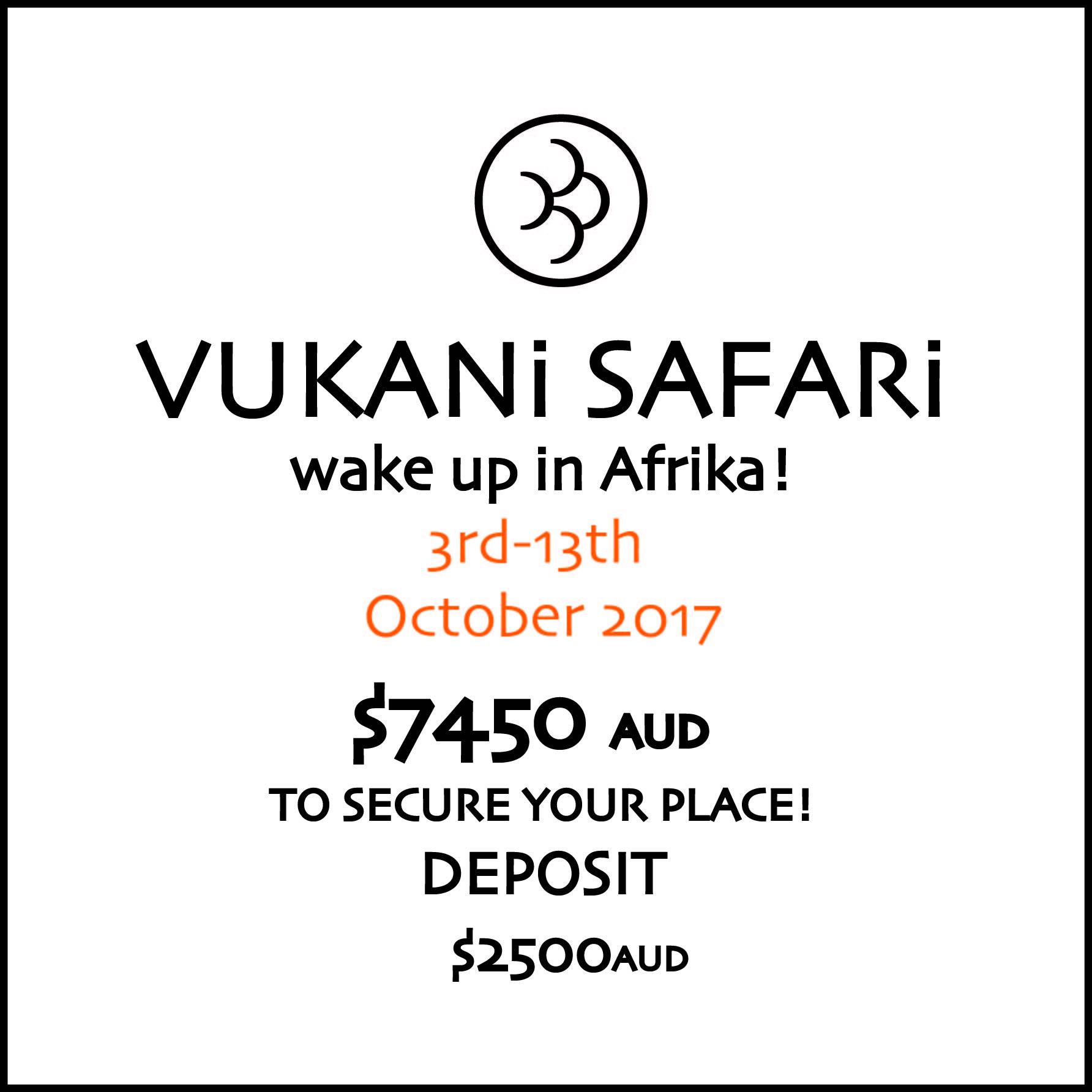 Vukani Safari Deposit A